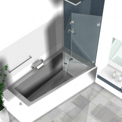 Duschwand Badewanne