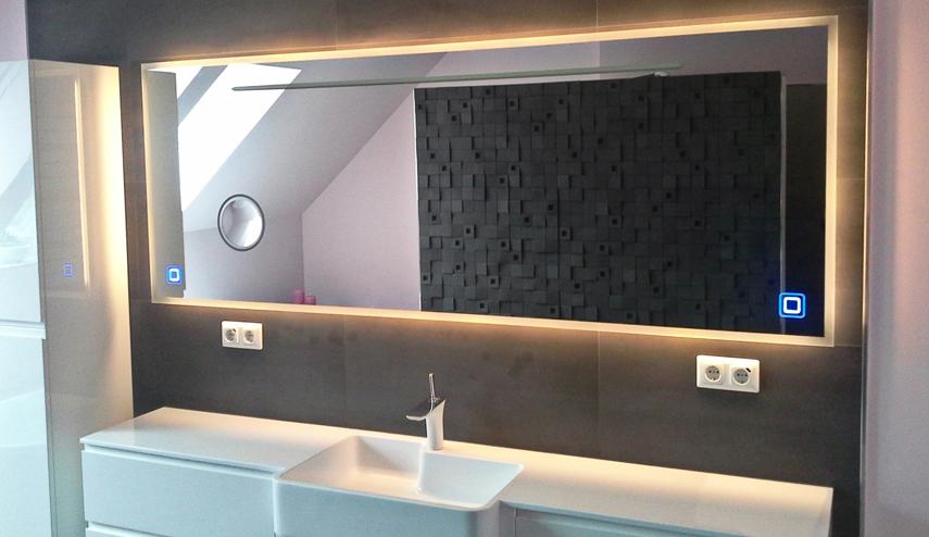 Badspiegel, Badspiegel mit Beleuchtung, Badspiegel mit ...