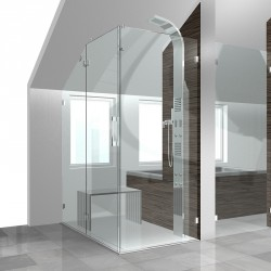 Glasduschen duschabtrennungen einbausituation duschen aus - Duschwand einbauen ...