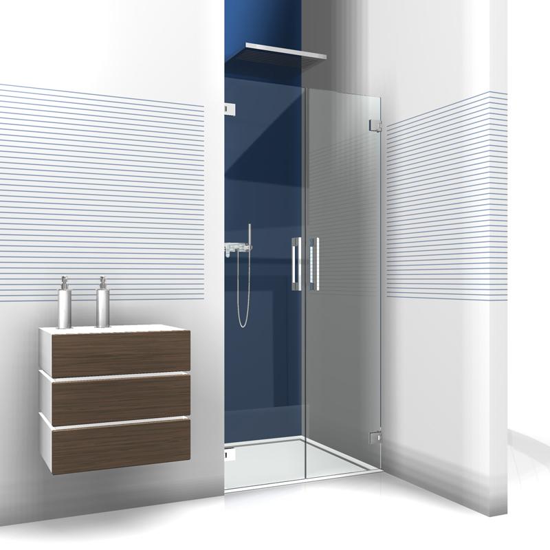 glas duschabtrennung nischendusche glasdusche f r nische. Black Bedroom Furniture Sets. Home Design Ideas