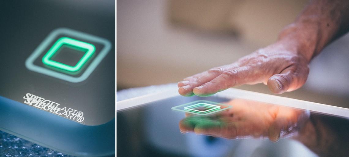 Badspiegel mit Beleuchtung - Sensorschalter - Badspiegel mit LED-Beleuchtung