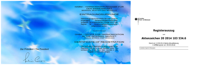 Registerauszug collage