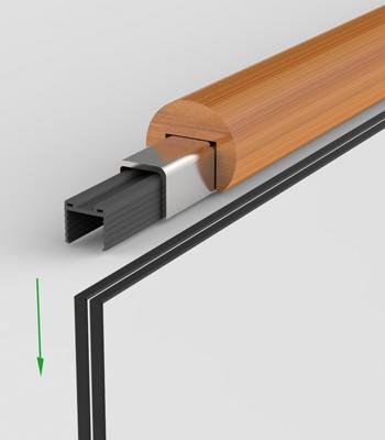 Handlauf Holz mit Kantenschutz