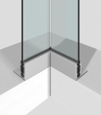 Profil aus Aluminium für Innenecken