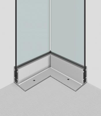 Profil aus Aluminium für Außenecke