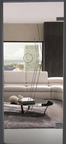 verglaste Tür Wohnzimmer