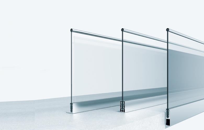 Profile für Glasgeländer