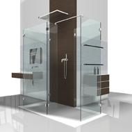 Dusche zum reingehen -  ohne Tür