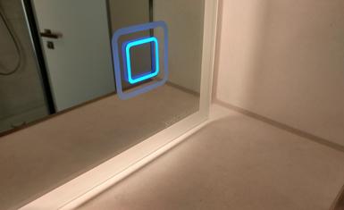 berührungsloser Sensor blau
