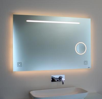 Badspiegel LED mit Kosmetikspiegel 00-08.2