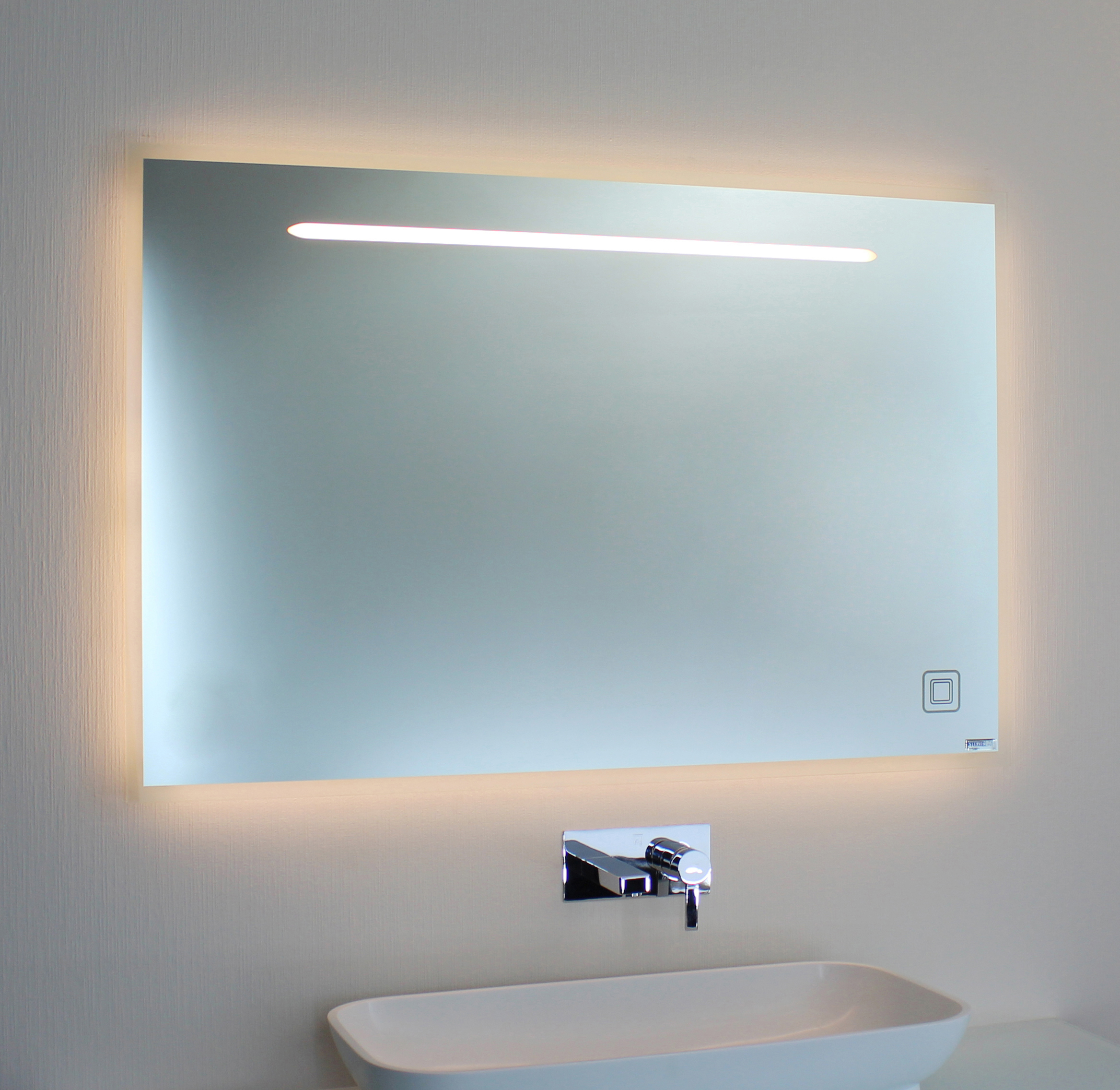 badspiegel led mit ambientebel 00 06 1 spiegel art. Black Bedroom Furniture Sets. Home Design Ideas