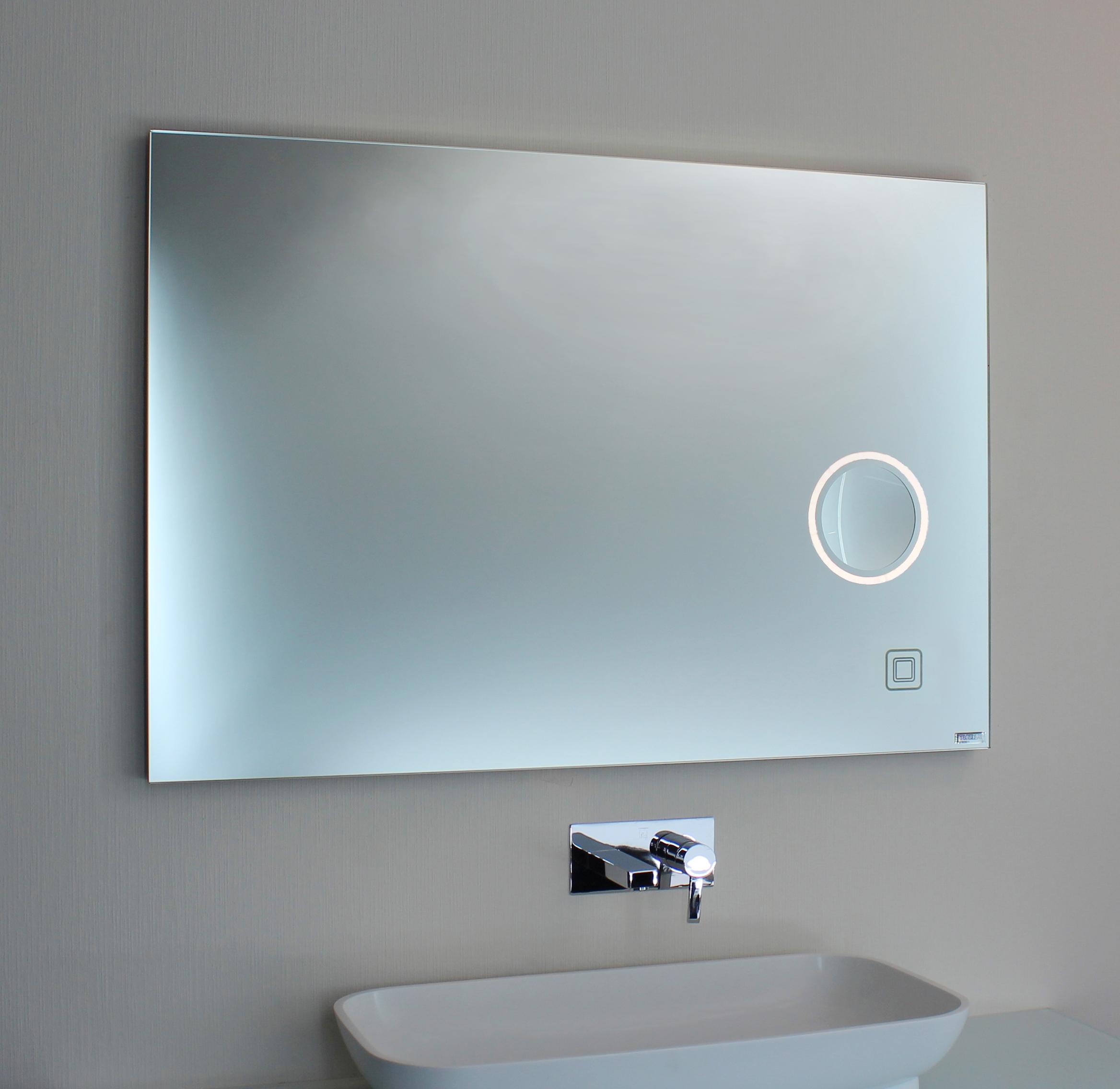 badspiegel mit kosmetikspiegel und sensorschalter 00-05.1 » spiegel art®